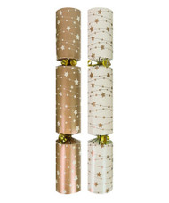 Cream & Gold Bauble Christmas Crackers 50 x 12""