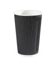 Go-Pak Ripple Black Paper Cup Hot 12 oz