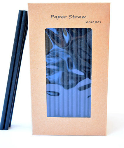 "5.5"" Black Paper Straws 250's"