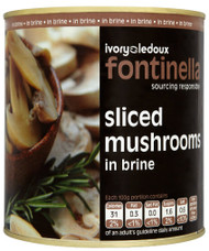 Fontinella Sliced Mushrooms in Brine 2.55Kg