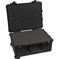 This Travel Case is a FAA approved, airline-legal carry-on case.  The interior of the case is specifically designed for FlowTek Dimensions.  4 Strong polyurethane wheels.  O-ring seal. Retractable extension handle.  Watertight, crushproof, and dust proof.