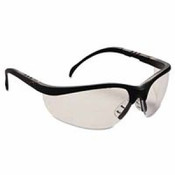 Crews Klondike Black Frame Clear Lens Safety Spectacle/PER PAIR
