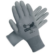 Memphis Glove Ultratech Pu Coated Gloves, Large, Gray/PER DOZEN