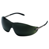 Crews Blackjack Protective Eyewear, Green 5.0 Polycarbonate Lenses, Chrome Metal Frame