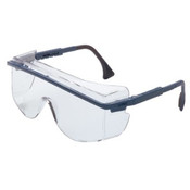 Uvex By Honeywell Astrospec Otg 3001 Eyewear, Clear Polycarbonate Hard Coat Lenses, Blue Frame