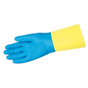 Memphis Glove Med. Blue Neoprene Overyellow Latex 28mil