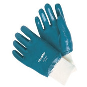 Memphis Glove Nitrile Coated Gloves, Large, Blue/PER DOZEN