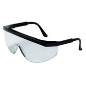Crews Tomahawk Protective Eyewear, Clear Polycarbonate Lenses, Black Nylon Frame, PER PAIR