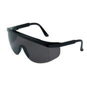 Crews Tomahawk Protective Eyewear, Gray Polycarbonate Lenses, Black Nylon Frame