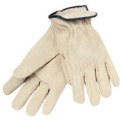 Memphis Glove Drivers Gloves, Premium Grade Cowhide, Medium, Red Fleece Lining/PER DZ