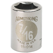 "Armstrong 3/8"" DR SOCKET- 3/4"" OPG12-PT STD, PER BOX OF 5"