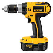 DEWALT CORDLESS 18V COMPACT HAMMER DRILL/DRIVER, W/ CASE, 2 BATTERIES & CHARGER
