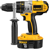 "DEWALT 18V 1/2"" XRP HAMMERDRILL/DRILL/DRIVER W/ CASE, 2 BATTERIES & CHARGER"