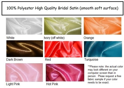 Satin Fabric By The Yard We offer black, champagne, hot pink, light pink, pink, white, orange, and brown