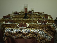 Leopard Print Safari Animal Print Style Table Cloth