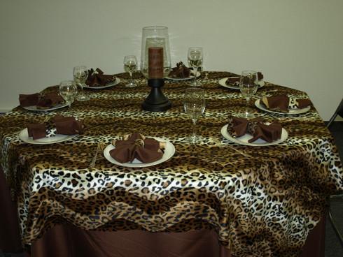 Leopard Print Safari Animal Print Style Table Cloth