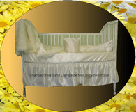 Satin Crib Bumper Set: 4 pc bumper set (other pieces sold separate)