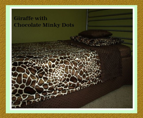 Chocolate Brown Minky Dot Bed Skirt