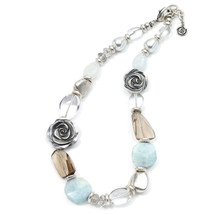 Aqua Rose Necklace (N1149)