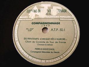 COMPAGNONNAGE 1949 Edition Des Musee Nationaux ATP 502 78rpm LE ROI ET COMPAGNON