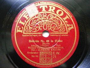 CLEMENS KRAUSS Electrola 71/3 3x78 Set HAYDN Sinfonie No.88