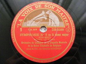 CHARLES HOUDRET Gramophone DB 5099 3x78 Set SCHUBERT NM