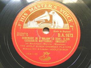 BUSCH CAHMBER PLAYERS Hmv 1673 2x78 MOZART Serenata