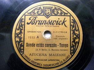 AZUCENA MAIZANI Brunswck 2115 TANGO 78 DONDE ESTAS CORAZON / CHIMENTO