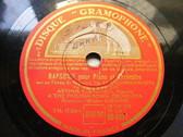 ARTHUR RUBINSTEIN & SUSSKIND Gramophone 6556 PIANO 3x78 Set RACHMANINNOF