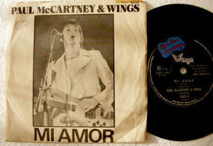"7"" McCARTNEY & WINGS EMI 1859 ARGENTIN 45 MI AMOR EP PS"