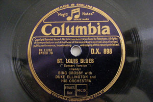 "12"" BING CROSBY & ELLINGTON Orch Columbia 898 JAZZ 78 ST LOUIS BLUES / CREOLE LO"