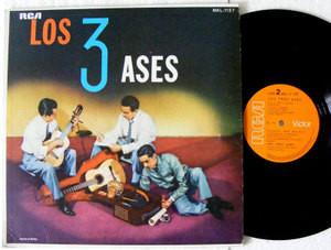 LOS TRES ASES RCA VICTOR MKL-1127 MEXICAN LP 1958 NM