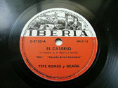 HERRERO & ROMEU duo IBERIA Z2133 Rare SPANISH 78rpm CANCION DE LOS VERSOLARIS / DUO DE ANA MARI Y JOSE MIGUEL