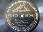PORTER & HARLAN / MURRY HILL Victor 16890 COMIC 78 THE VILLAGE BARBER/