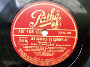 MARCEL CARIVEN Pathe 165 78 PLANQUETTE Cloches De Corneville