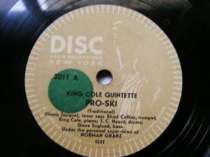 "12"" KING COLE QUINTETE Asch 2011 JAZZ 78 I CAN'T GIVE YOU ANYTHING BUT LOVE"