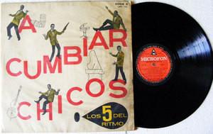 LOS 5 DEL RITMO A Cumbiar Chicos MICROFON 76 CHILE LP