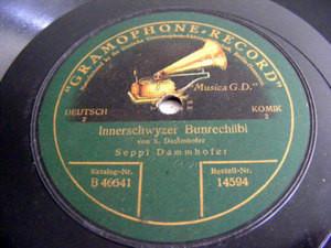 SEPPL DAMMHOFER Gramophone 14594 DEUTSCH COMIC 78rpm