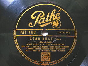 "12"" AIME BARELLI Pathe 162 JAZZ 78 CARAVAN / STAR DUST"