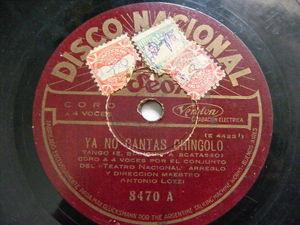 ANTONIO LOZZI Nacional 8470 TANGO 78 YA NO CANTAS A CHINGOLO / TANITA DE LA PROA