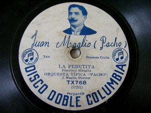 ORQUESTA PACHO Disco Doble 768 TANGO 78 rpm LA PEBETITA/SOKO