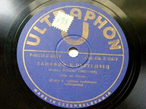 KLAVIER SOLO Ultraphon 10617 PIANO 78 DEBUSSY Zahrada y Desti / Tocatta