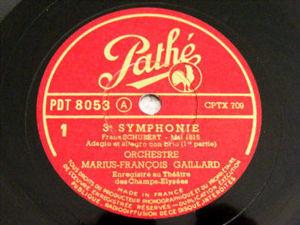 MARIUS FRANCOIS GAILLARD Pathe 8053 3x78 Set SCHUBERT#3