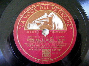 GLENN MILLER Lvdp 695 JAZZ 78 SPRING WILL BE SO SAD / PERFIDIA