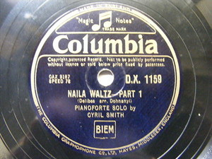 CYRIL SMITH Columbia 1159 PIANO 78 DELIBES NAila Waltz