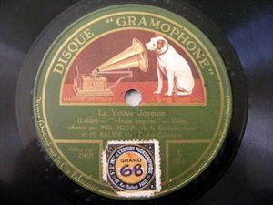 DOCIN Gaite-Lyrique & BAUGE del' Opera GRAMOPHONE 78