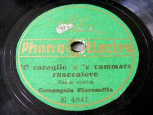 COMPAGNIA CIARAMELLA Phono Electro 4847 78rpm BONAFFICI