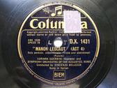 ADRIANA GUERRINI, BELLEZZA Columbia 1431 OPERA 78 MAD BUTERFLY Con Onor