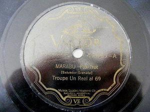 TROUPE UN REAL AL 69 Victor 47067 OPERA 78rpm MARABU/ADIOS VENECIA