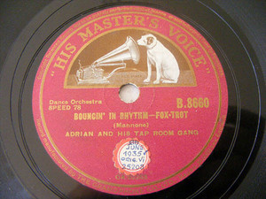 ADRIAN ROLLINI hmv 8660 JAZZ 78 BOUNCIN' IN RHYTHM / WEATHER MAN